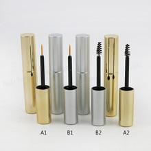 1 шт. x Пустая портативная тушь для ресниц, 8 мл, УФ, золото, серебро, тушь для ресниц, флакон для жидкостей, контейнер, 8cc, подводка для глаз, макияж, трубка