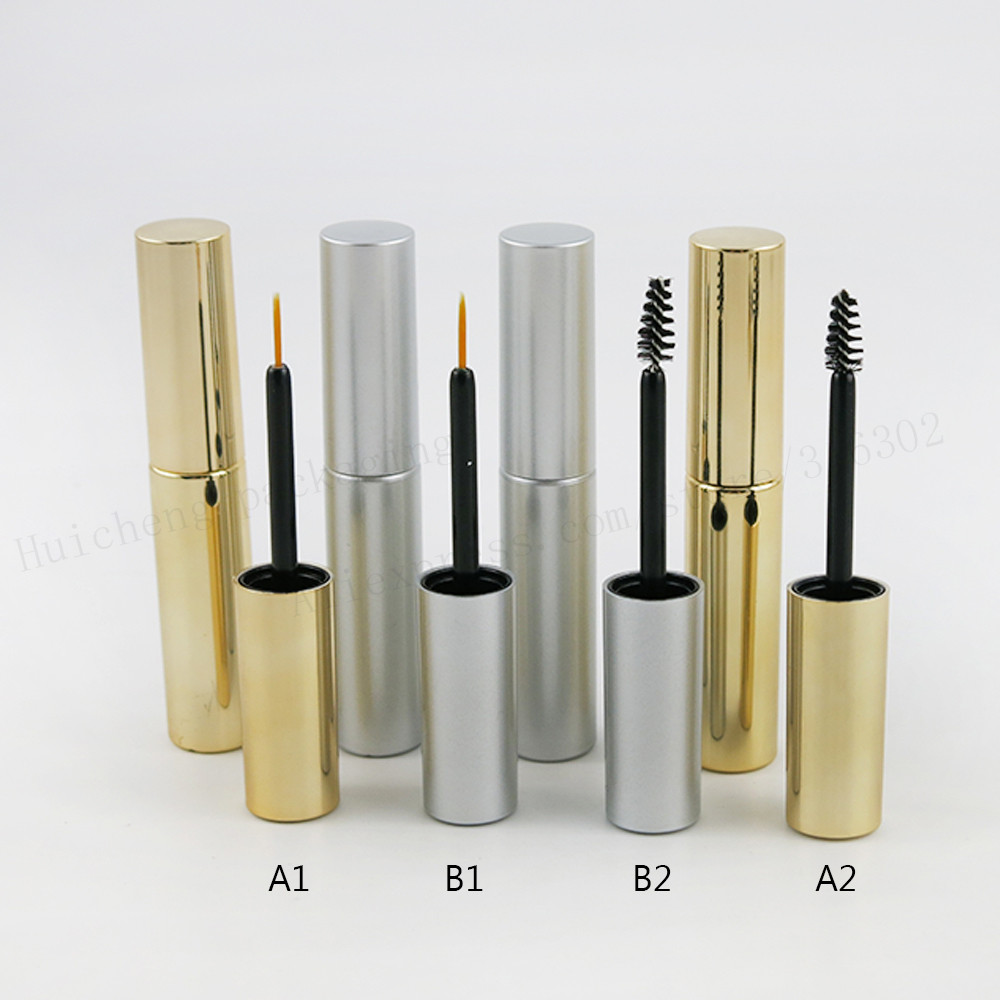 New Style 1pcs x Empty 8ml UV Gold Silver Mascara Tube Eyelash Vial Liquid Bottle Container 8cc y Eyeliner Make Up Tube free shipping 3 pp eyeliner liquid empty pipe pointed thin liquid eyeliner colour makeup tools lfrosted silver