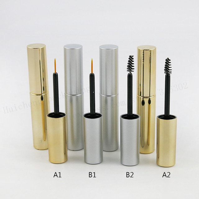 b726a4aecba New Style 1pcs x Empty 8ml UV Gold Silver Mascara Tube Eyelash Vial Liquid  Bottle Container 8cc y Eyeliner Make Up Tube-in Refillable Bottles from  Beauty ...