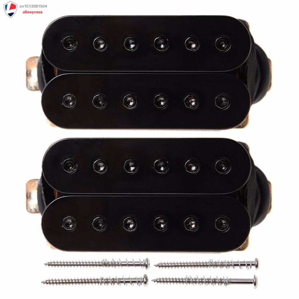 New Double Coil Metal Black Humbucker Pickups Set For Electric Guitar double black бермуды