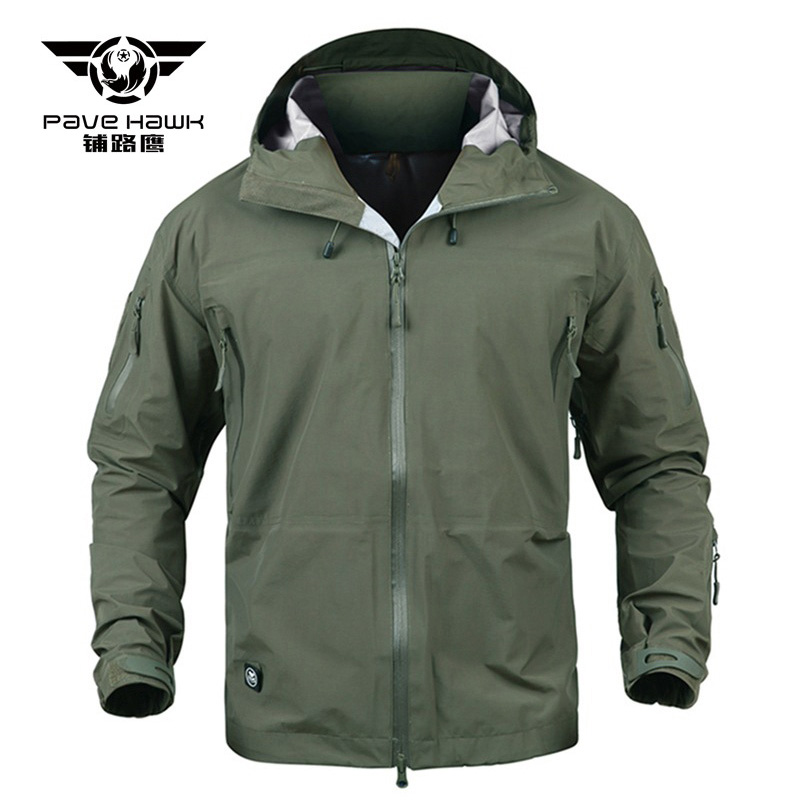 Men Tactical Jackets Shark Hard Shell Military Hooded Waterproof Coat Man Windproof Army Clothing Camouflage Combat Windbreaker lurker shark skin soft shell v4 military tactical jacket men waterproof windproof warm coat camouflage hooded camo army clothing