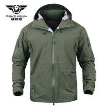 Men Tactical Jackets Shark Hard Shell Military Hooded Waterproof Coat Man Windproof Army Clothing Camouflage Combat Windbreaker цена и фото