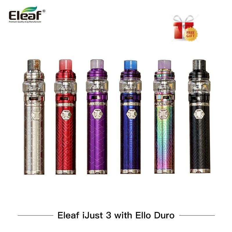 Sigaretta elettronica Eleaf Ijust 3 Starter Kit HO Appena 3 Vape penna Vaporizzatore 3000 mah con Ello Duro Atomizzatore VS SMOK Bastone Principe