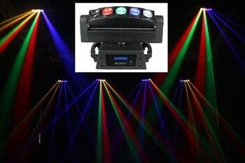 Nieuwe Hot Gratis Verzending 5 Hoofden Led Beam Moving Head Wash Lights 5x10W Quad DMX512 Disco Podium licht Projector Voor DJ Apparatuur
