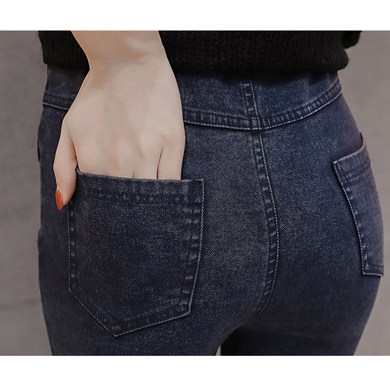 fd7b98476 KSTUN vaqueros Stretch negro sólido Delgado 2019 primavera nuevos pantalones  casuales Denim Slim Fit alta calidad