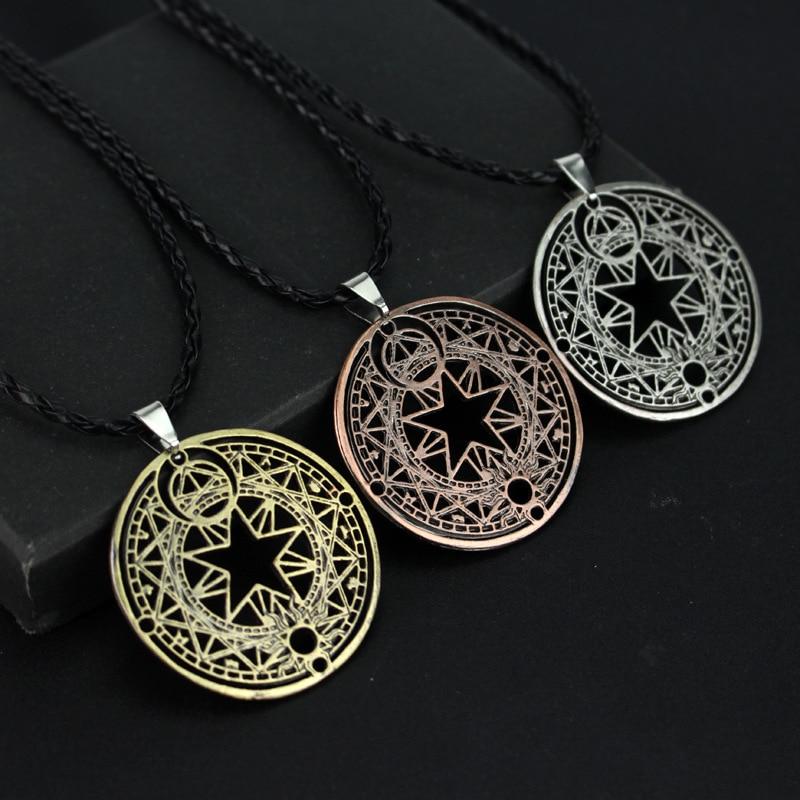 Japan Anime Sakura Card Captor Necklace Collares Cardcaptor Sakura Magic Circle Necklace Colar Masculino Anime Jewelry