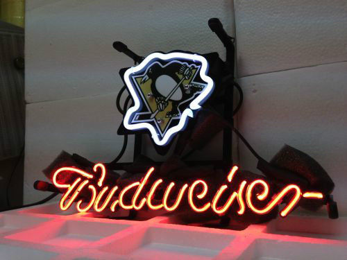 Brand New Nhl Pittsburgh Penguins Hockey Beer Bar Display Pub Neon Light Sign Christmas Lights Free Shipping 13 8 In Bulbs S From
