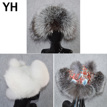 Quality Hot Sale Winter Lady Real Fox Fur Bomber Hats 100 Natural Genuine Fox Fur Hat Girl Lovely Soft Warm Real Leather Caps cheap WOMEN YH-31504 Solid China (Mainland) Adult adjustable suitable for everyone 100 real natural fox fur 100 real genuine sheepkin leather