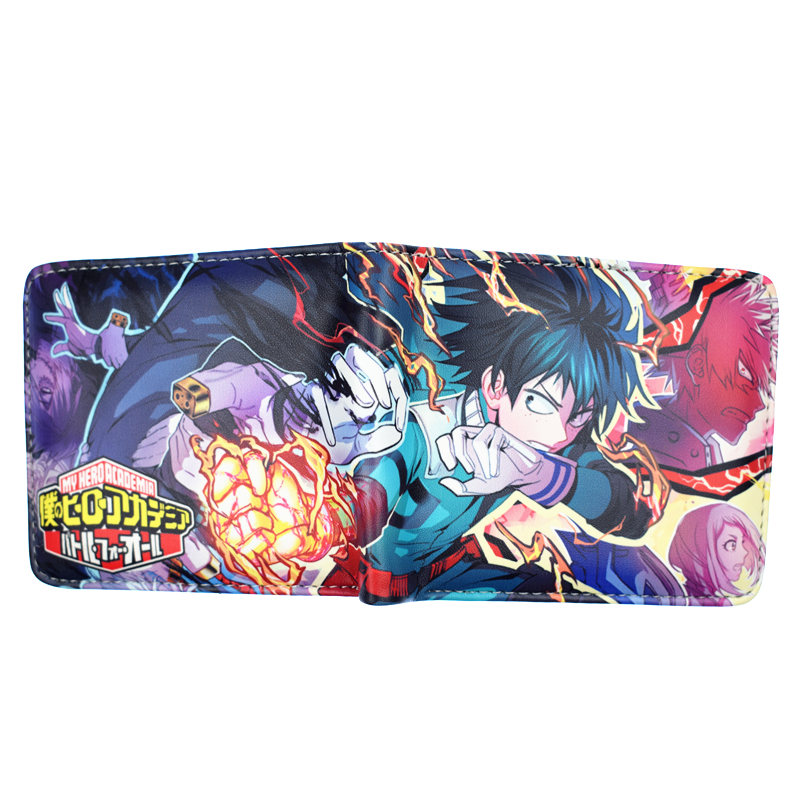 FVIP New Arrival My Hero Academia Wallet With Coin Pocket Card Holder Bi-Fold Purse for Young