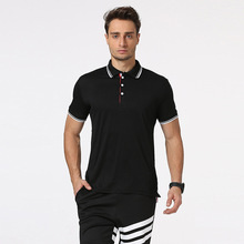 New persona screw-type stripe printed domesticate one's morality leisure males's polo shirt lapel health comfy polo shirt
