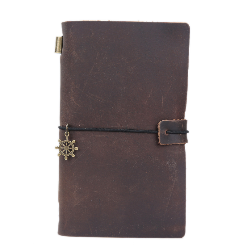 High Quality Vintage Genuine Crazy Horse Leather Cowhide Cover Loose Leaf Travelers Notebook Diary Diaries Journal Gift Notepad