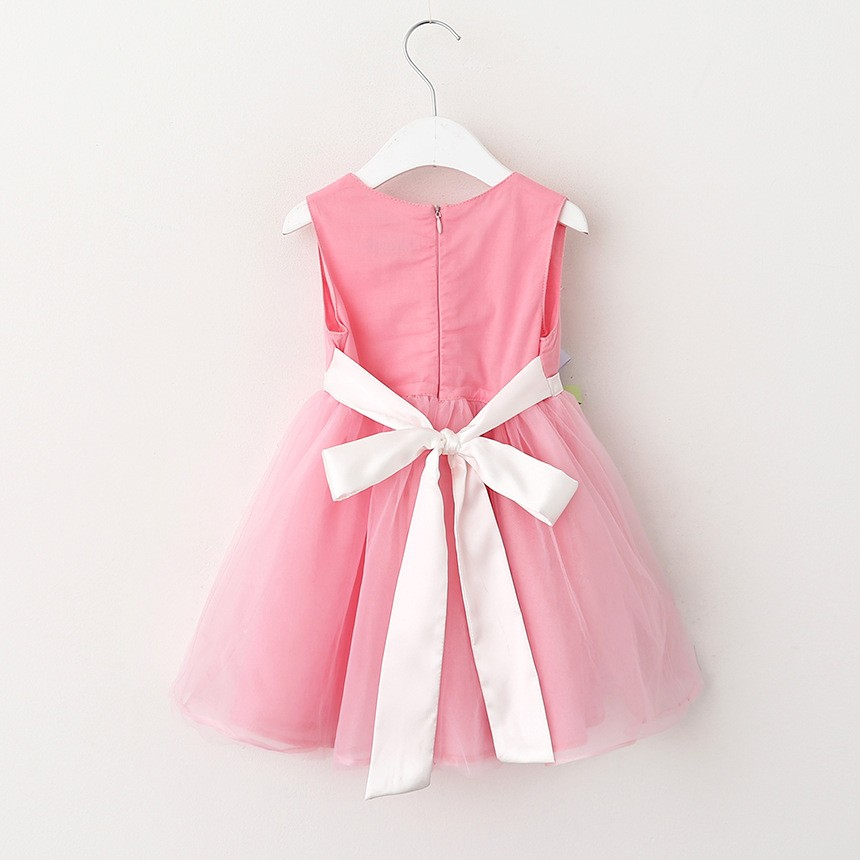VIMIKID 17 New Girls tutu dress + belt flowers gauze children princess vest dress Girls lace dress kids clothes pink purple 10