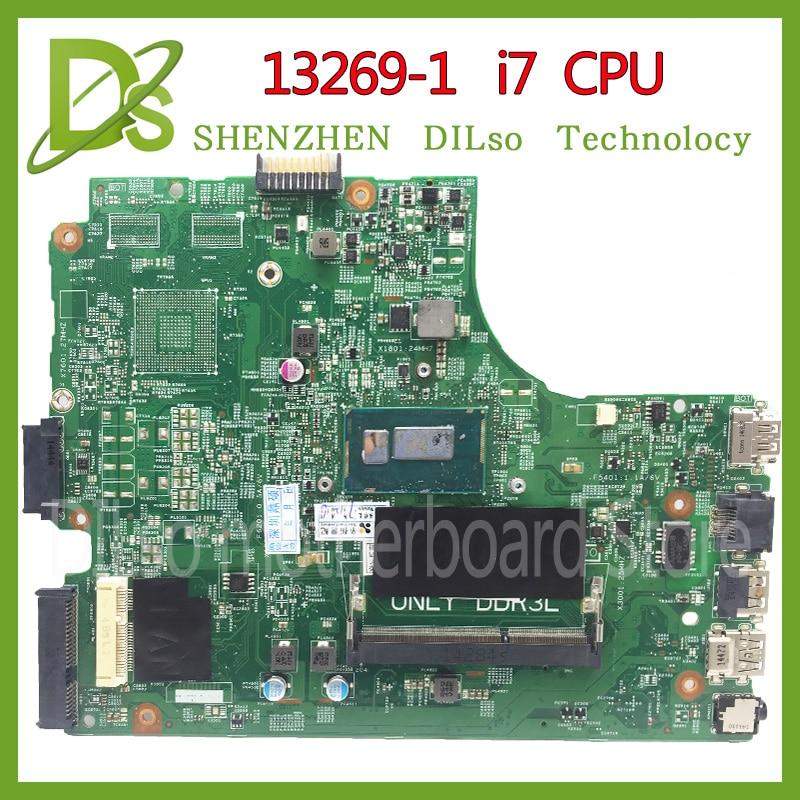 KEFU 13269-1 para dell 3542 dell 3442 dell 3543, 5749 de 3443 placa base 13269-1 PWB FX3MC REV a00 placa base I7 GM trabajo 100%