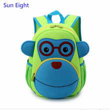 Sun Eight green superlight kindergarten backpack baby girl bag small cartoon backpack children backpacks big eye bags for kids