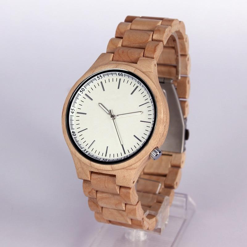 ФОТО Cindiry Mens Wooden Bamboo Band Watch Japanese Movement Quartz Watch with Waterproof Luminous Watches P19