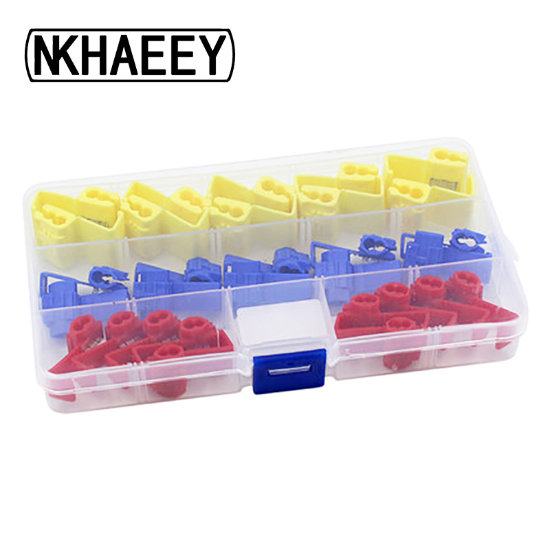30 pcs/box fast clip terminals clamps Quick Splice Wiring ... on harley handlebar wire clips, wire rope clips, types wire clips, plastic clips, latching wire clips, framing clips, insulation clips, conduit clips, automotive clips, spring clip,