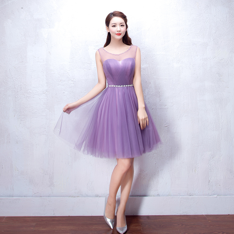 Popular Purple Lace up Bridesmaid Dresses-Buy Cheap Purple Lace up ...