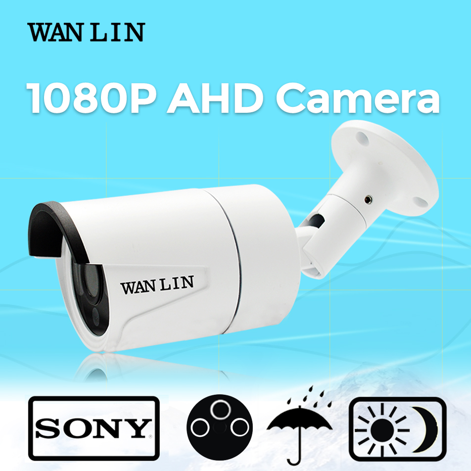 WAN LIN 2 0MP Sony IMX323 Outdoor Waterproof 1080P CCTV AHD 3 6MM Lens Security Camera