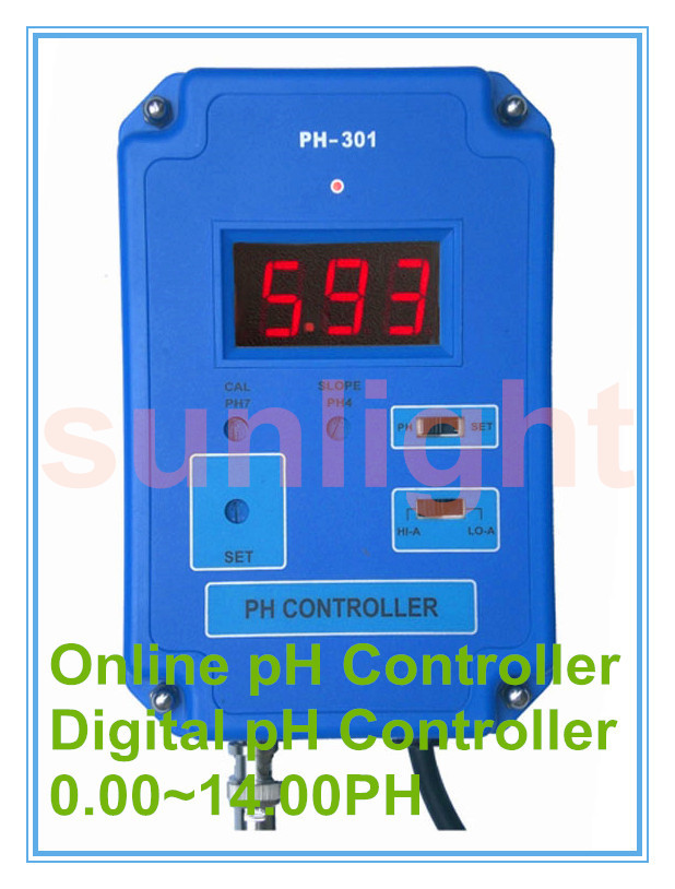 On line pH Controller with 3 50 10 50PH Controlling Range
