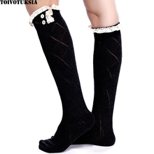 3091 Free Shipping! Lace Frill Over Knee Socks for Thigh High Socks for Women