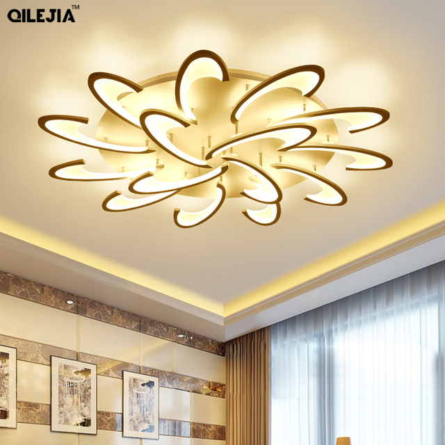 New Arrival LED Ceiling Chandelier For Living Study Room Bedroom Rectangle Modern Led Ceiling Chandelier Lamp Fixture