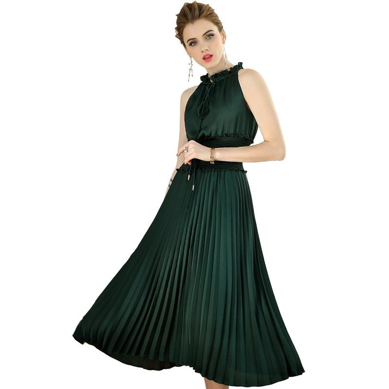 green Femmes Robe Robes Printemps D'été Sexy Tenue Soie Vintage 2019 Vêtements Apricot Élégant Zt1986 De Fête Pour Lacée RIwUT4wxq