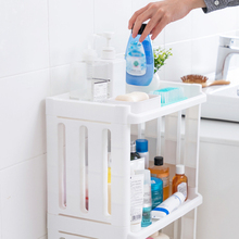 купить Multi-Layer Organizer Holder Bathroom Rack Bathroom Shelf Kitchen Storage Rack Removable Wheeled Shelves по цене 1088.97 рублей