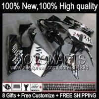 Bodys For KAWASAKI NINJA Black west ZX12R 2002 2003 2004 2005 2006 K2390 ZX 12R ZX 12R black white 02 03 04 05 06 Fairing