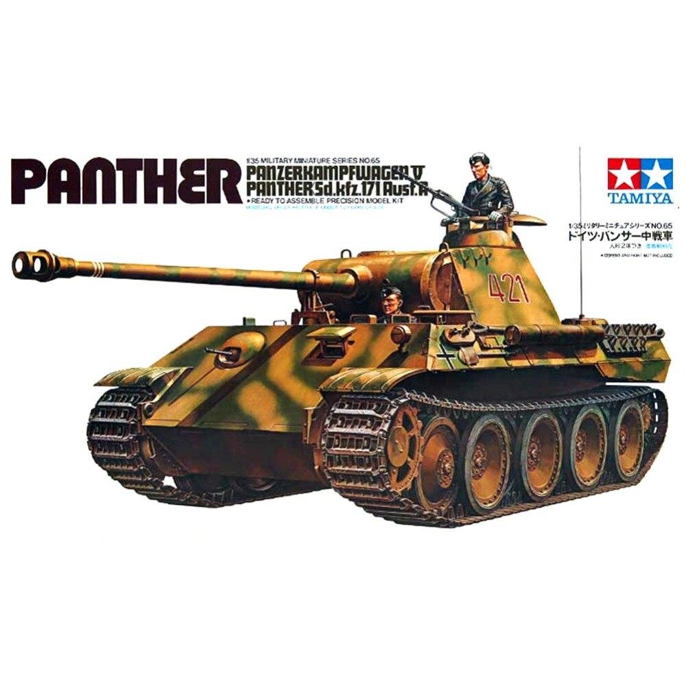 OHS Tamiya 35065 1/35 German Panther Panzerkampfwagen V Sd Kfz 171 Ausf A Assembly AFV Model Building Kits oh
