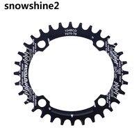 Snowshine2 #3001 104BCD 32ครั้งเบาอัลลอยด์จักรยานจักรยานChainringรูปไข่กลมChainwheelขายส่ง