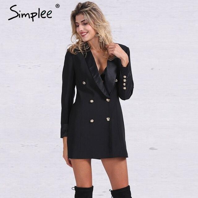 Simplee Apparel ПР двойной брестед длинный костюм пиджак femme Осень прохладный тонкий белый дамы blazer Женщины пальто куртка повседневная верхняя одежда