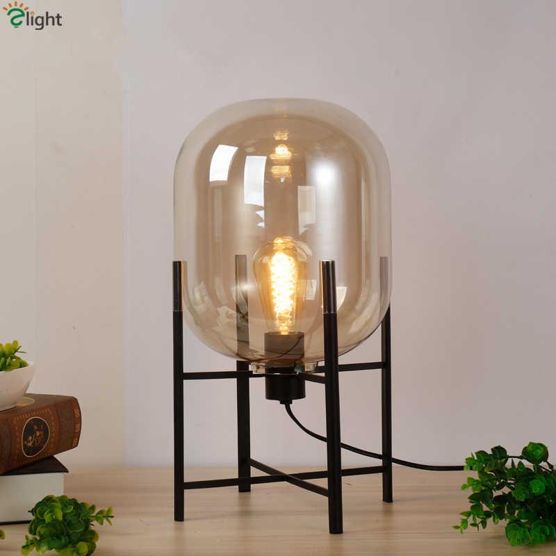 Color gris sombras Europa de mesa lámpara dormitorio Oda lámpara de cuerpo Mesa Deco de Pulpo Metal escritorio ámbar para sol Lámpara luz gafas vN8nwOm0