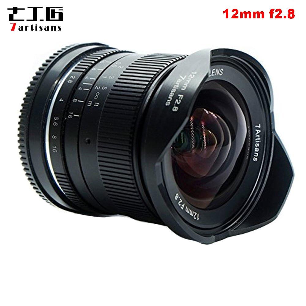 7 ремесленников 12 мм f2.8 ультра Широкий формат объектив для sony E-mount APS-C беззеркальных камер A6500 A6300 A7 руководство фокус премьер фиксированный о...