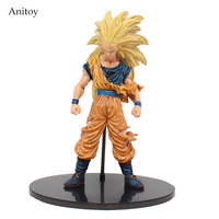 Anime Dragon Ball Super Saiyan Three Battle Damaged Edition Son Goku Kakarotto PVC Action Figure Collectible