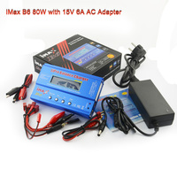 New iMAX B6 80W with AC Adapter 15V 6A Power Supply RC Lipo Battery Balance & 12V 5A adapter Optional