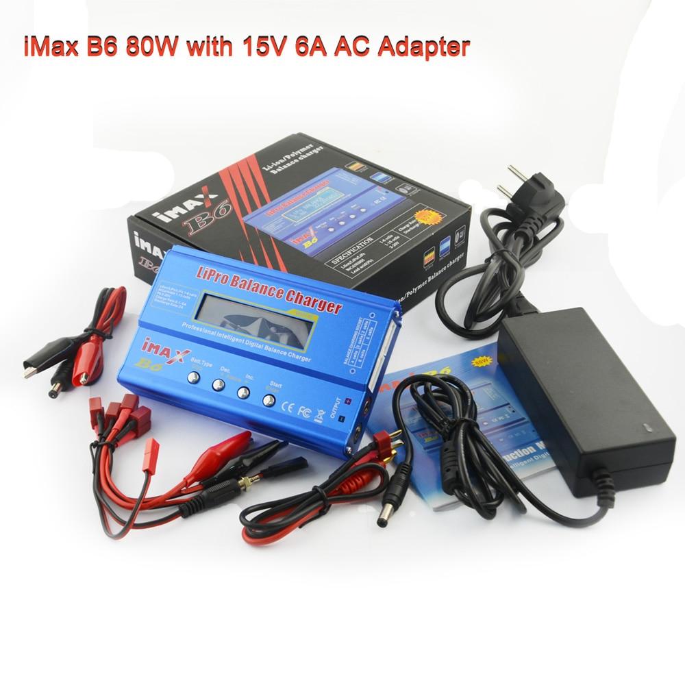 Nouveau iMAX B6 80 W avec AC Adaptateur 15 V 6A Alimentation RC Lipo Équilibre de La Batterie et 12 V 5A adaptateur En Option