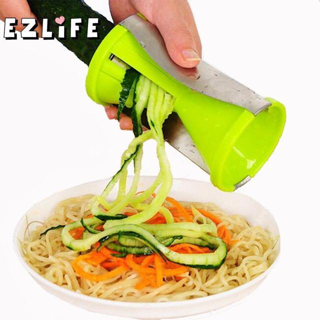 Di verdure A Spirale Affettatrice Carota Cetriolo Zucchine Noodle Julienne Tagli