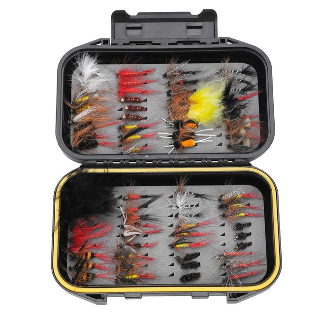 YOSOO 72pcs/box Fishing Lures set Multi-color Artificial Insect Baits Dry Handmade