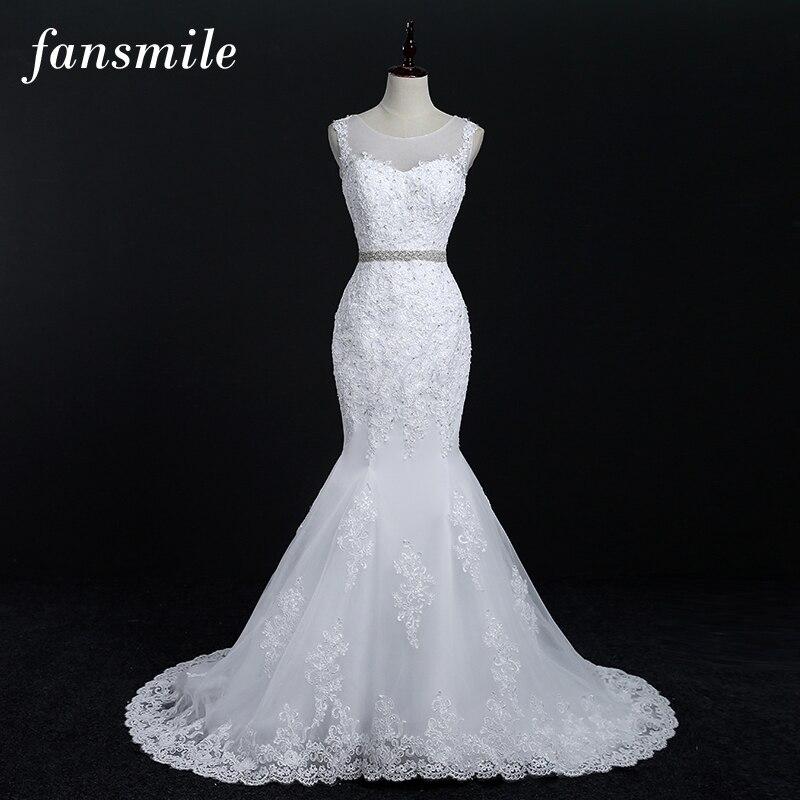 Robe de mariée en dentelle en mode sirèn ...