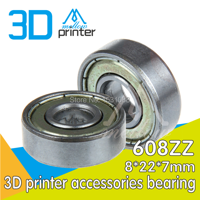 10pcs-lot 3D printer accessories bearing pulley bearing guide wheel extruder dedicated 608ZZ ABEC-7