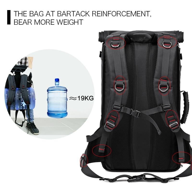 50L haute capacité qualité Oxford étanche sac à dos pour ordinateur portable multifonctionnel mochila sac d'école en plein air randonnée voyage bagages sac - 5