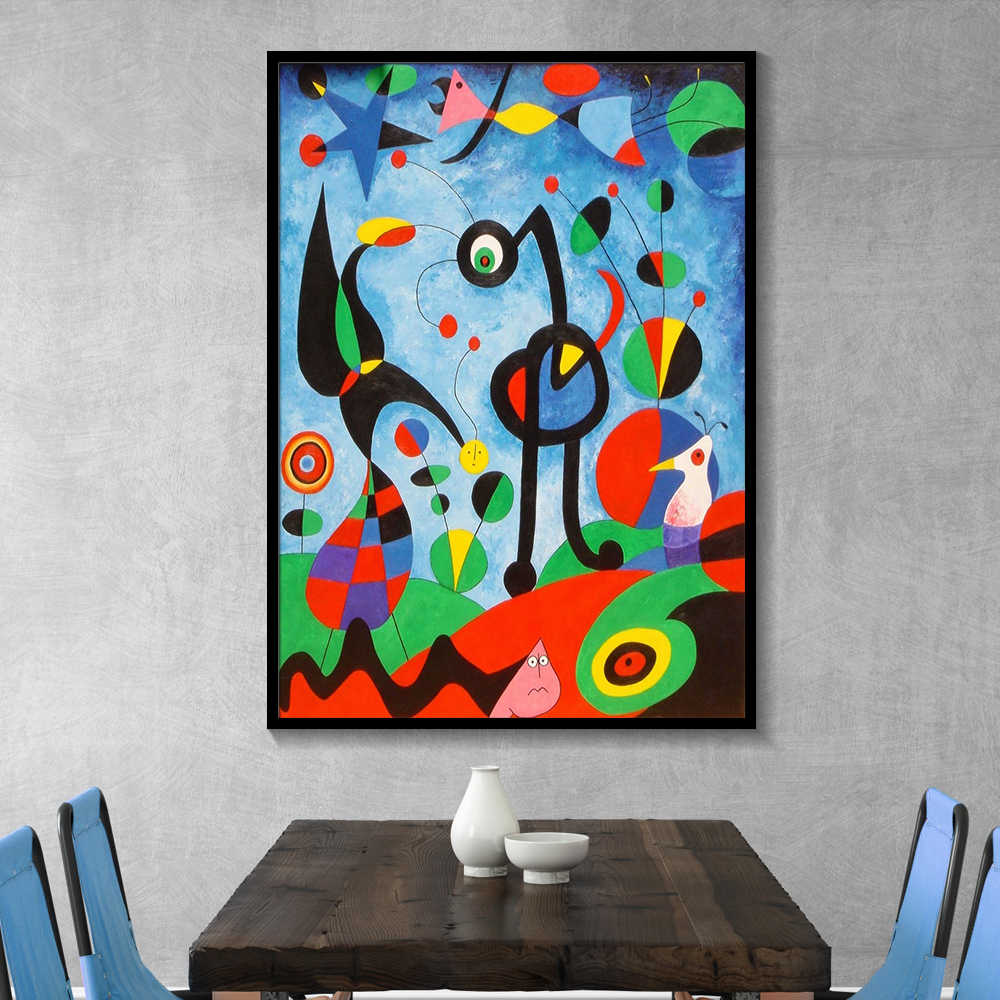 Joan Miro Abstract Watercolor Wall Art Posters And Prints Famous Canvas Painting Living Room Home Decoration Pictures