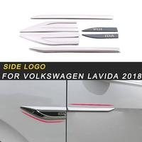 For Volkswagen Lavida 2018 Car Styling Door Gate Side Logo Emblem Badge Trim Sticker Exterior Accessories