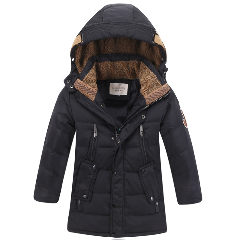 Jacket Boys Winter Duck Down Jacket Kids Thick Warm Winter Jackets with Fur Coats Teenage Boys Clothing 6 8 10 12 14 Year
