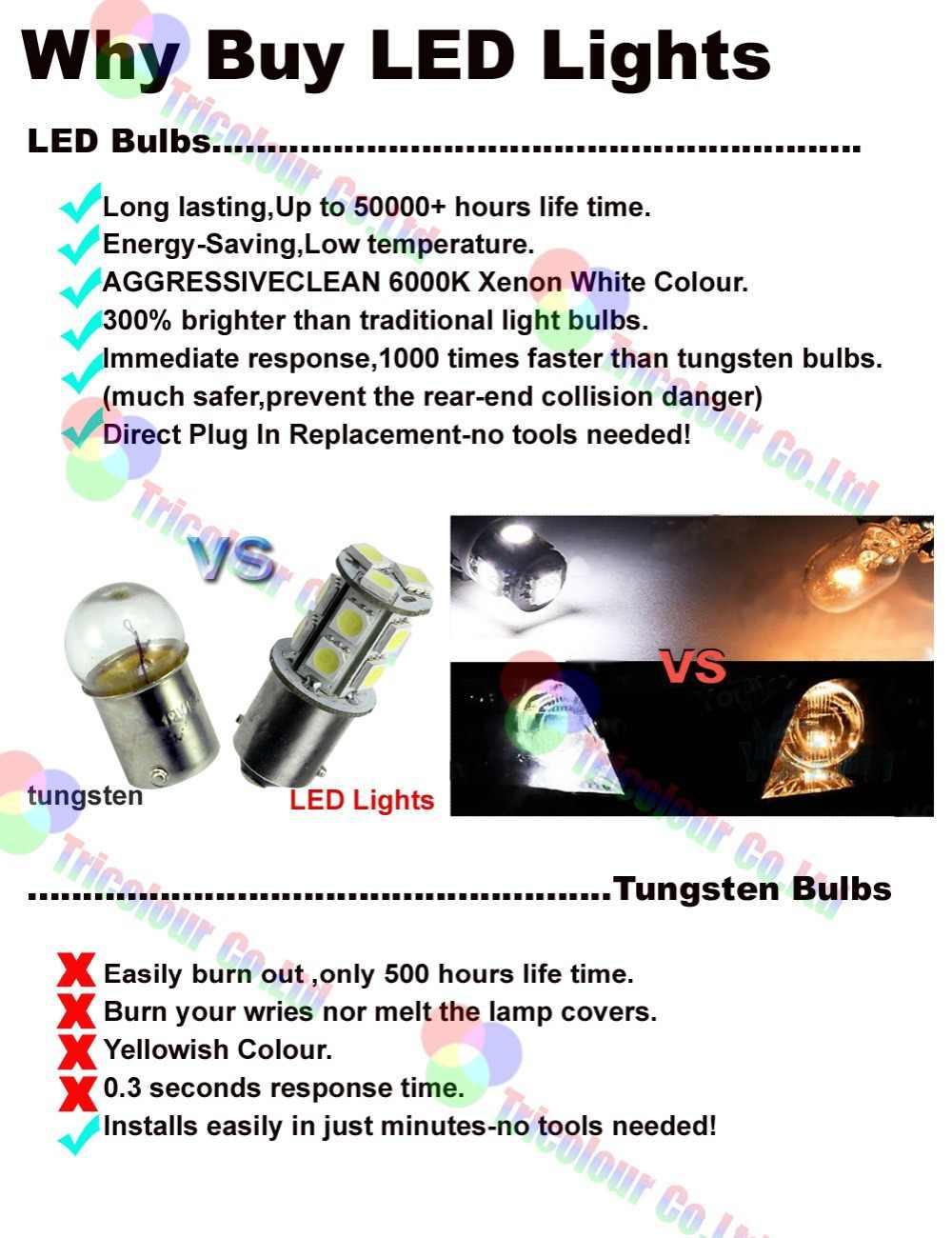 AutoEC 2x High power H11 50w 9005 9006 led 8 smd fog light Car Driving day time running Bulb Lamp lights 12v #LI10