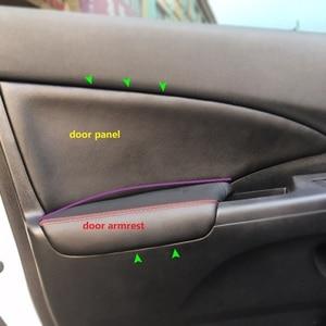 Image 1 - 4 pçs estilo do carro interior microfibra couro porta painel braço capa adesivo guarnição para honda crv 2012 2013 2014 2015 2016 2017