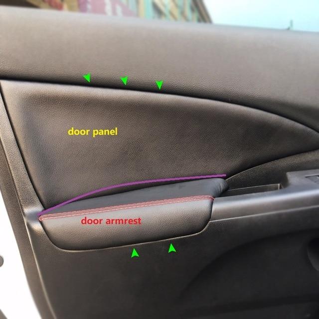 4PCS Car Styling Interior Microfiber Leather Door Panel Armrest Cover Sticker Trim For Honda CRV 2012 2013 2014 2015 2016 2017