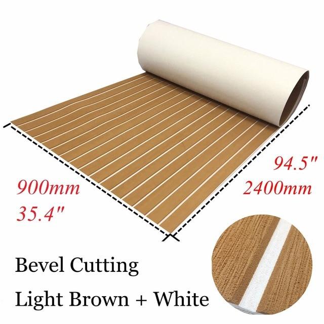 Bevel EVA Teak Decking Sheet For Boat Yacht Marine Floor Carpet Non Slip 90cmx240cm