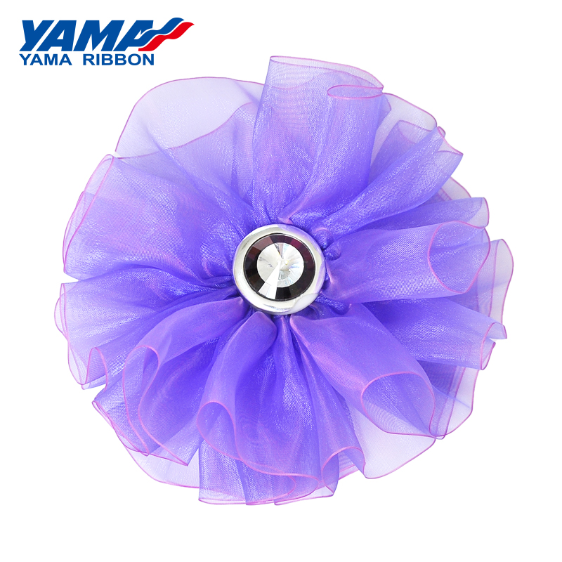 YAMA Polyester Ombre Organza Ribbon 6mm 400Yards/roll 1/4 inch Hand made Silk Ribbons