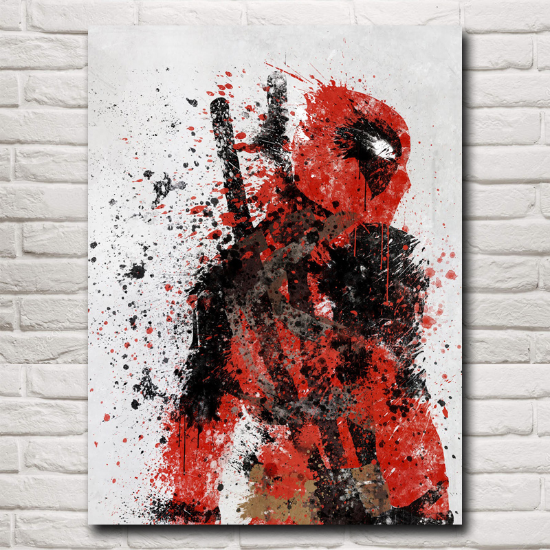 Deadpool Wade Wilson USA Superheroes Comic Movie Art Silke Plakat Print Home Decor Maleri 12x16 18X24 24x32 Inch Gratis Levering